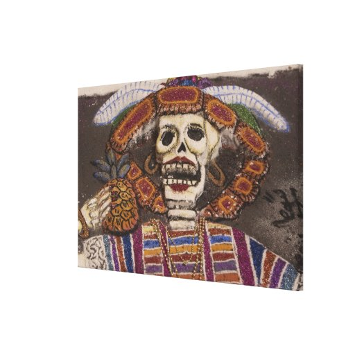 Mexico, Oaxaca. Sand tapestry (tapete de arena) Canvas Print