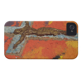 Mexico, Oaxaca, sand tapestry (tapete de arena) iPhone 4 Cover