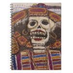 Mexico, Oaxaca. Sand tapestry (tapete de arena) Spiral Notebooks