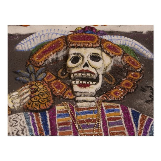 Mexico, Oaxaca. Sand tapestry (tapete de arena) Postcard