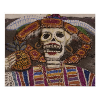 Mexico, Oaxaca. Sand tapestry (tapete de arena) Posters