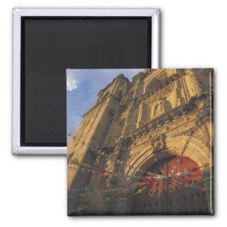 Mexico, Oaxaca, Templo de San Felipe de Neri 2 2 Inch Square Magnet