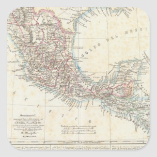 México, Panamá, America Central Calcomanía Cuadradas Personalizadas