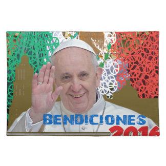 MEXICO PAPA FRANCISCO MEXICO  2016 CUSTOMIZABLE PR PLACEMAT