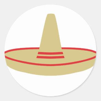 mexico party sombrero classic round sticker