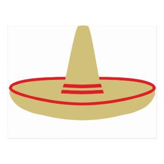 mexico party sombrero postcard