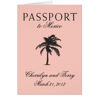 Mexico Passport Wedding Save the Date Card