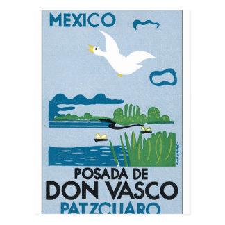 Mexico Patzcuaro Vintage Travel Poster Artwork Postcard