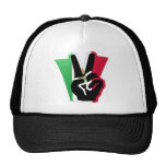 Mexico Peace Fingers Flag Trucker Hats
