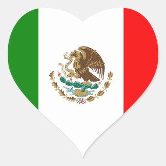 México Pegatina En Forma De Corazón