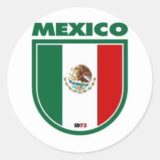 México Pegatina Redonda