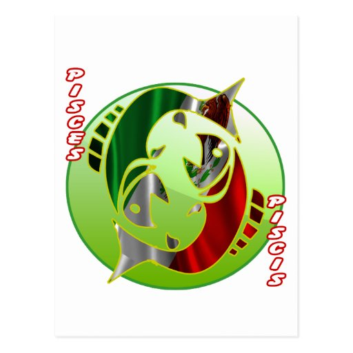 MEXICO PISCES HOROSCOPES PRODUCTS POST CARD