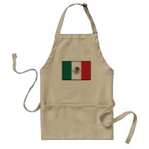 Mexico Plain Flag Adult Apron