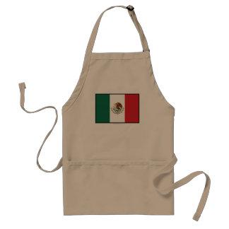 Mexico Plain Flag Adult Apron