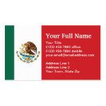 Mexico Plain Flag Business Card