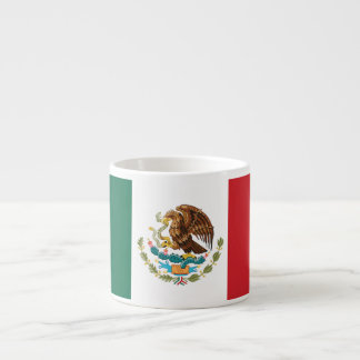Mexico Plain Flag Espresso Cup