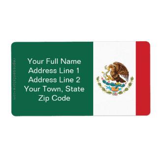 Mexico Plain Flag Label