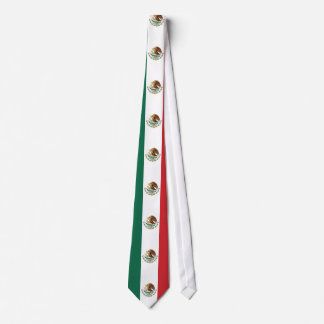 Mexico Plain Flag Neck Tie