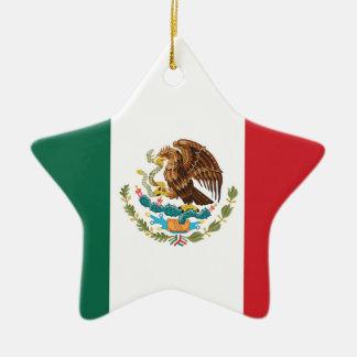 Mexico Plain Flag Christmas Tree Ornaments