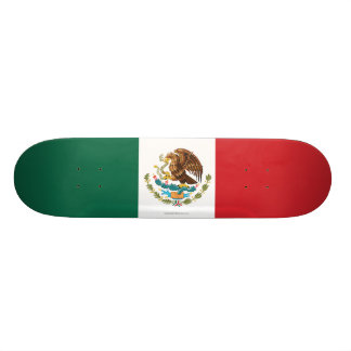 Mexico Plain Flag Custom Skateboard