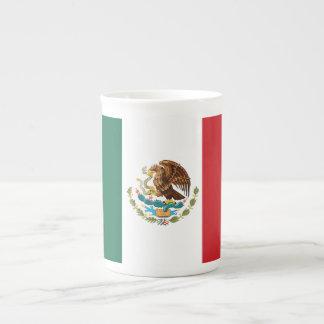 Mexico Plain Flag Tea Cup