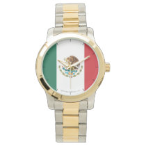 Mexico Plain Flag Wrist Watch