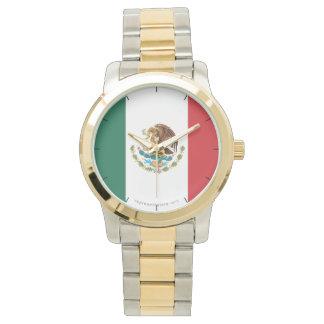 Mexico Plain Flag Wrist Watch