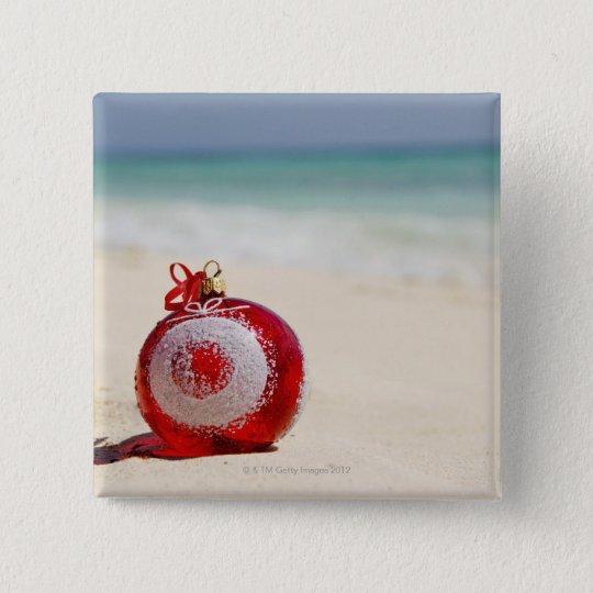Mexico, Playa Del Carmen, christmas decoration Pinback Button