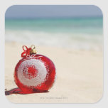 México, Playa del Carmen, decoración del navidad Pegatina Cuadrada
