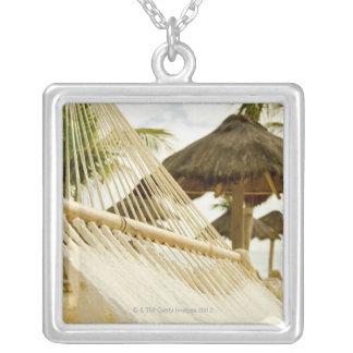 México, Playa del Carmen, hamaca en la playa Collar Plateado
