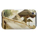 México, Playa del Carmen, hamaca en la playa iPhone 3 Tough Protectores