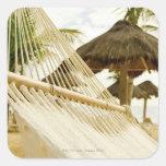 México, Playa del Carmen, hamaca en la playa Colcomanias Cuadradases