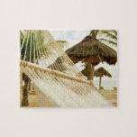 México, Playa del Carmen, hamaca en la playa Puzzles