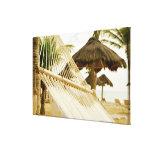 Mexico, Playa Del Carmen, hammock on beach Canvas Print