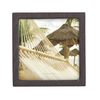 Mexico, Playa Del Carmen, hammock on beach Premium Keepsake Boxes