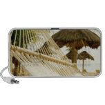 Mexico, Playa Del Carmen, hammock on beach iPhone Speakers