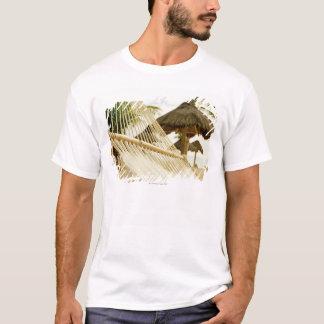 Mexico, Playa Del Carmen, hammock on beach T-Shirt