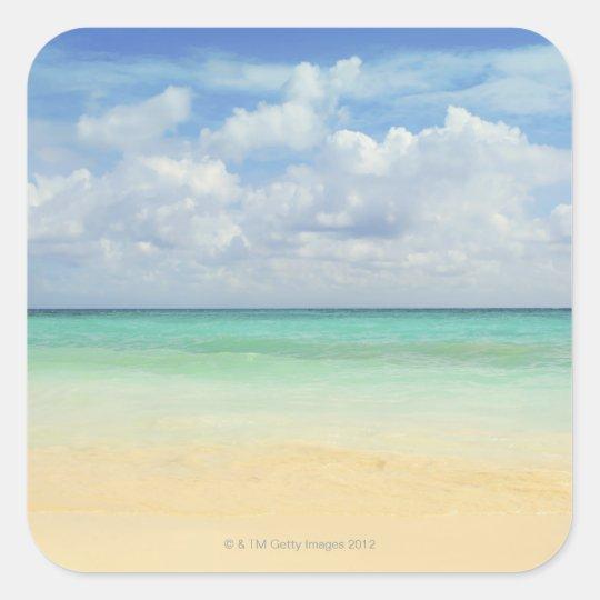 Mexico, Playa Del Carmen, seascape 2 Square Sticker