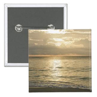 Mexico, Playa Del Carmen, seascape 3 2 Inch Square Button