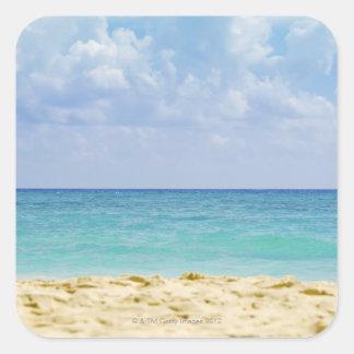 Mexico, Playa Del Carmen, seascape 4 Square Sticker