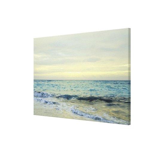 Mexico, Playa Del Carmen, seascape 5 Stretched Canvas Print
