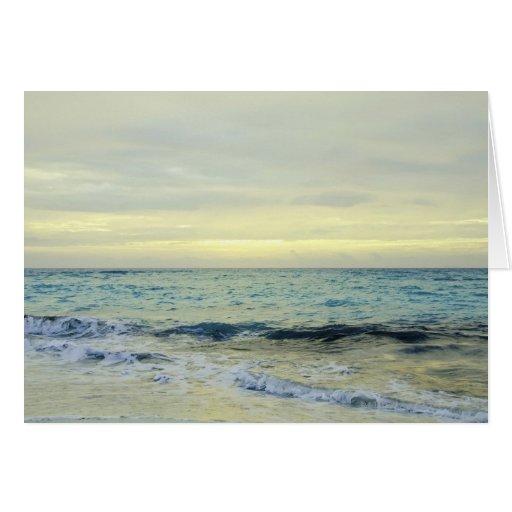 Mexico, Playa Del Carmen, seascape 5 Card