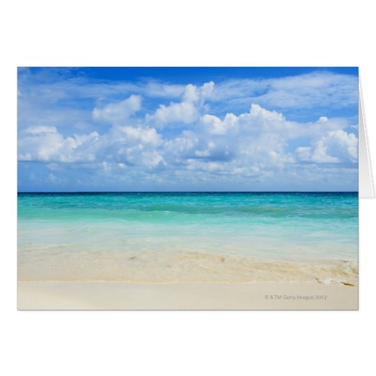 Mexico, Playa Del Carmen, tropical beach Card