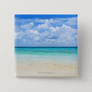 Mexico, Playa Del Carmen, tropical beach Pinback Button