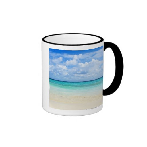 Mexico, Playa Del Carmen, tropical beach Ringer Coffee Mug