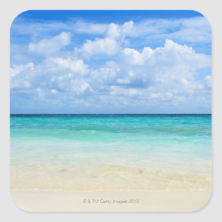 Mexico, Playa Del Carmen, tropical beach Square Sticker