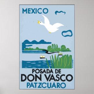 Mexico Po sada De Don Vasco Patzcuaro, Vintage Print