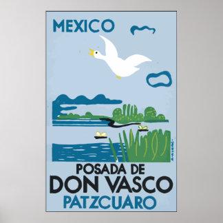 Mexico Po sada De Don Vasco Patzcuaro, Vintage Posters