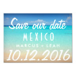 Mexico Postcard Destination Wedding Save Date