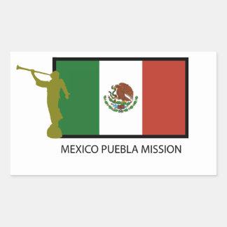 MEXICO PUEBLA MISSION LDS CTR RECTANGULAR STICKER